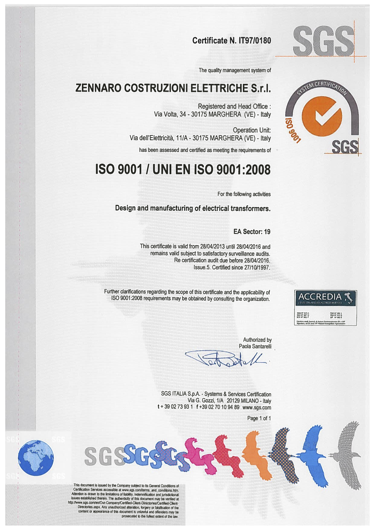 Zennaro Electrical Constructions Drytype Transformer Testing Open Our Quality Management System Has Been Assessed And Registered As Meeting The Requirements Of Iso 9001 Per Enclosed